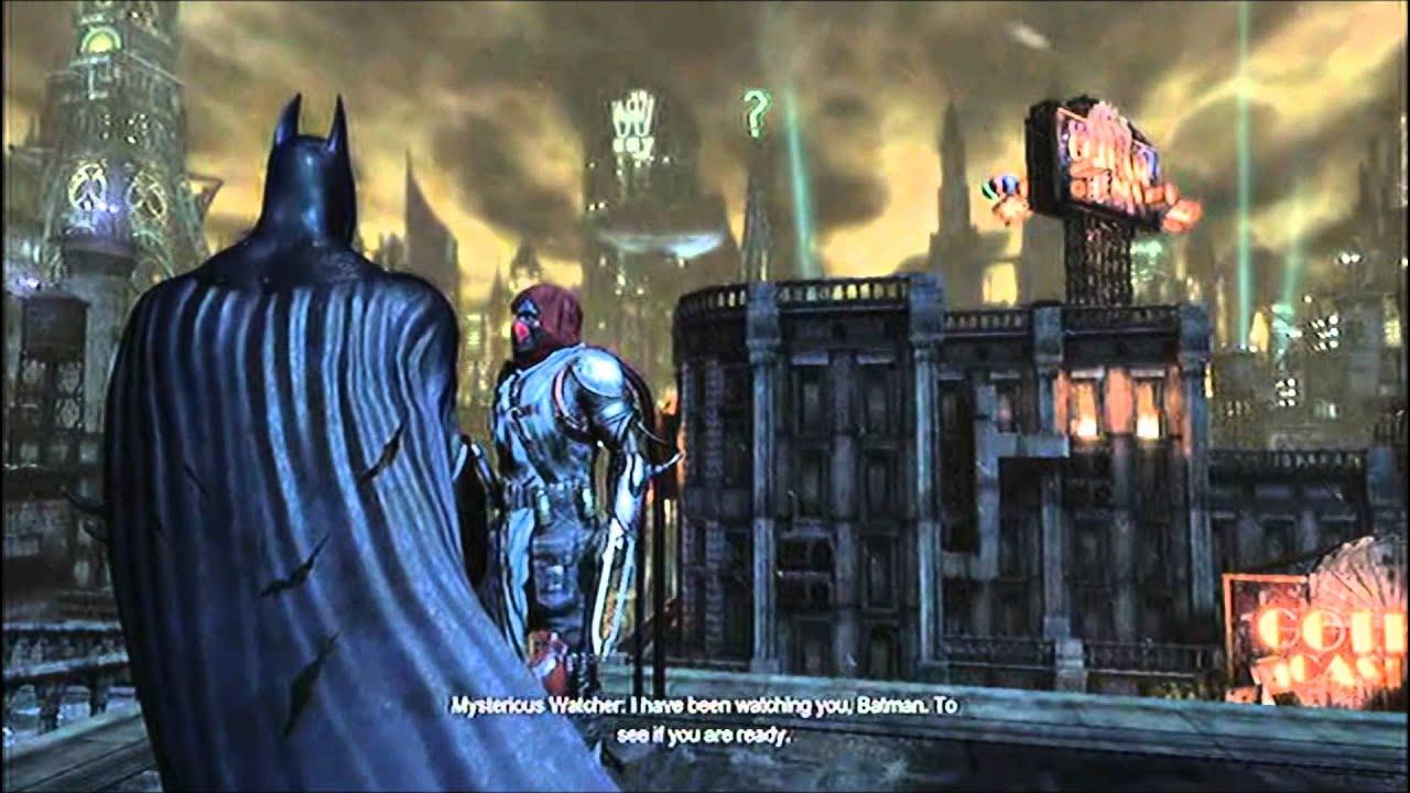 Batman Arkham City Mysterious Figure Is Watching Me Youtube