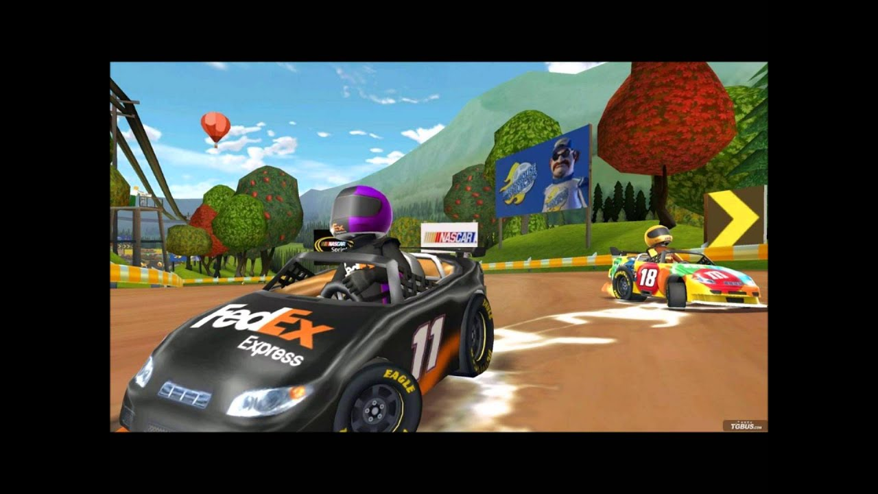 car games nascar kart racing new wii game for kids online review for free youtube