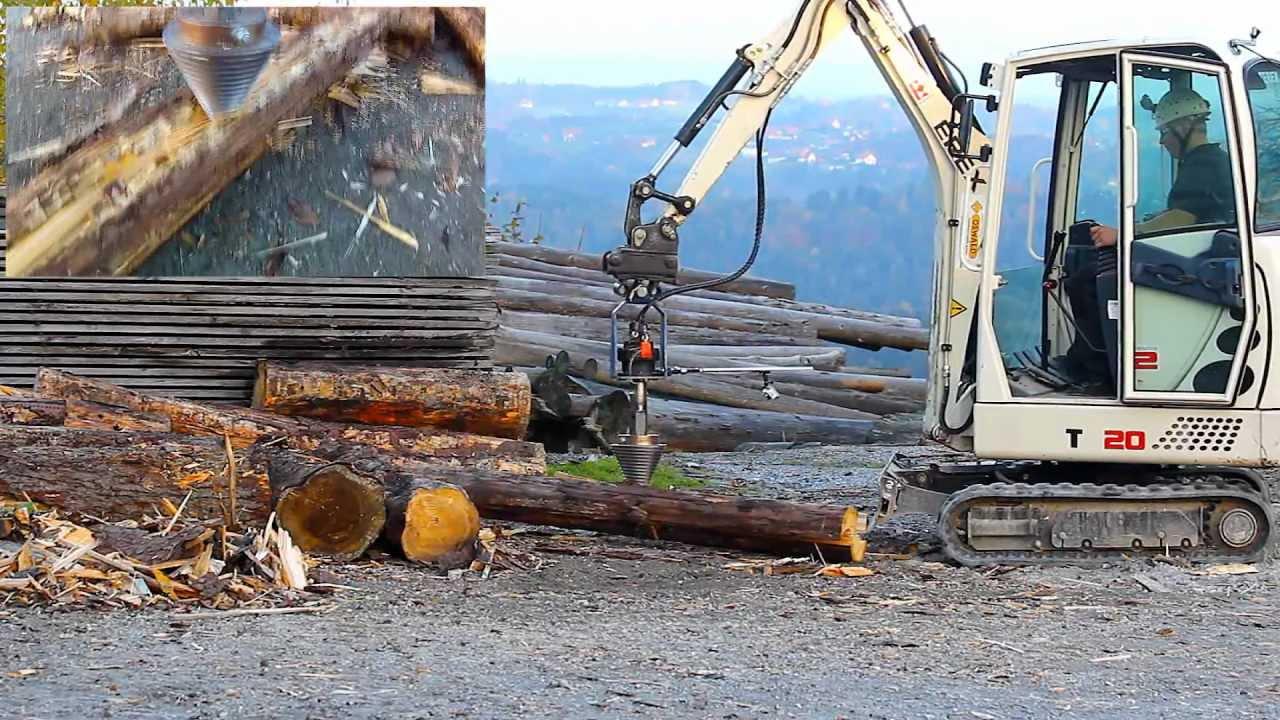Super Holzspalter mit Minibagger Terex TC20 - YouTube &PH_07