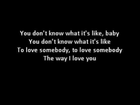 To Love Somebody Lyrics  Bee Gees