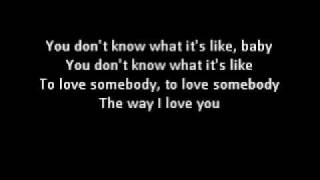 Download lagu To Love Somebody Lyrics - Bee Gees