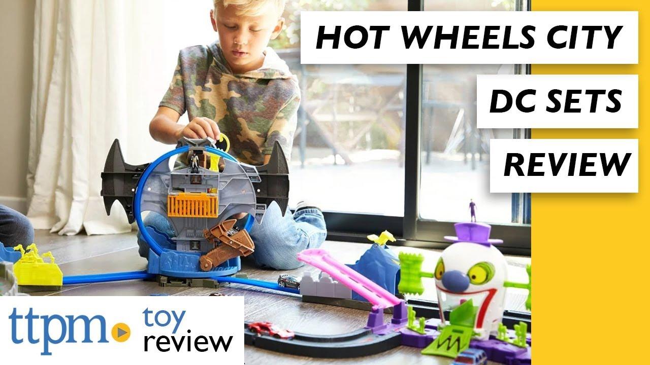 cd7bd27863a6 Hot Wheels DC Batman Batcave Play Set   Hot Wheels City DC The Joker ...