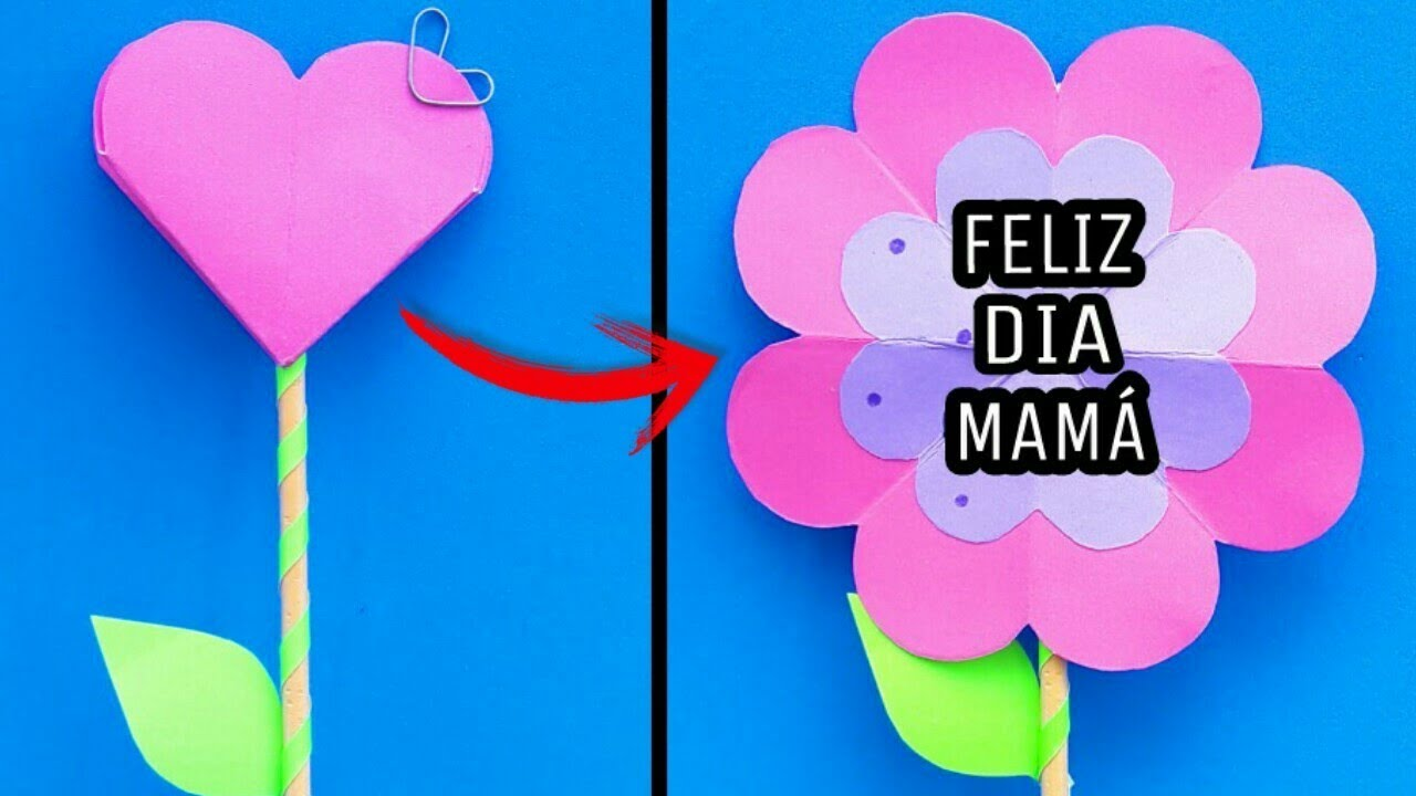 Tarjetas pop up de flores diy regalos para mam f ciles - Regalos faciles y rapidos ...