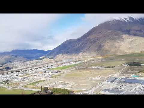 Landing at Queenstown, New Zealand