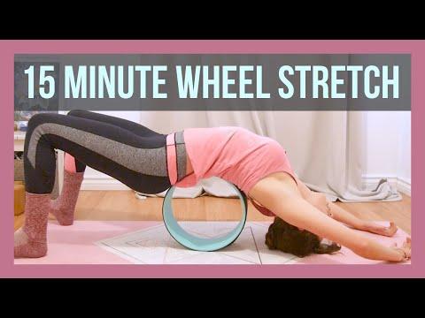 15 min Yoga Wheel Full Body Stretch