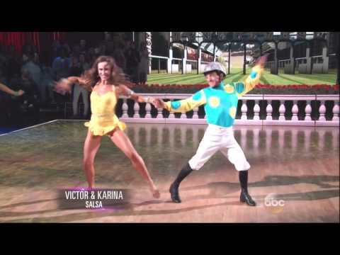 Karina Smirnoff and Victor Espinoza dancing Salsa on DWTS 9 14 15