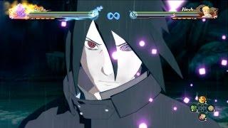 Naruto Storm 4: Adult Sasuke All Moveset,Awakening x Team Ultimate Jutsu (Boruto: The Movie DLC)