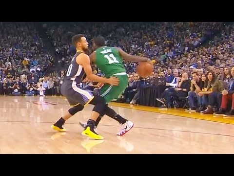 Kyrie Irving CROSSES OVER Stephen Curry! Celtics vs Warriors January 27, 2018
