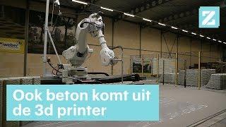 3d printer moet beton mooi maken - RTL Z NIEUWS