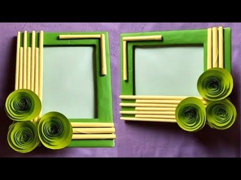 Cara Buat Bingkai Foto Dari Kardus  | Handmade Picture Frame Making At home