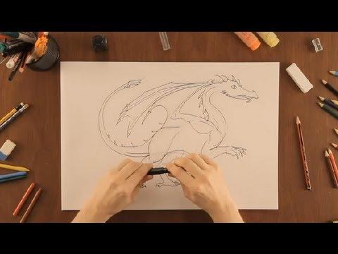 Cómo Dibujar Un Dragón Dibujos De La Naturaleza Youtube