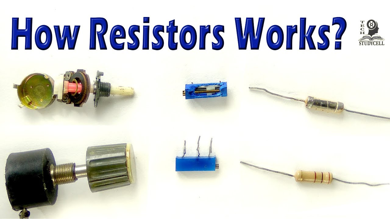 How Both Fixed And Variable Resistors Works Carbon Resistor Potentiometer Wiring Trimmer