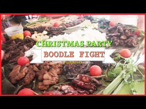 FILIPINIANA CHRISTMAS PARTY: Boodle Fight Preparation, Cooking  & Singing Karaoke  - Part 1