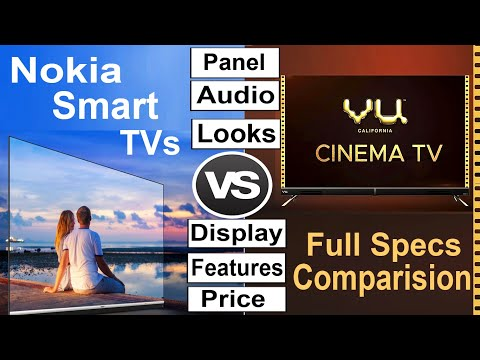 VU Cinema TV Vs Nokia Smart TV Detailed Specification Comparison | #NokiaTV #VUCinemaTV #SmartTV