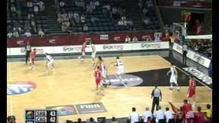 Serbia - Croatia 73-72 Highlights Eight Finals World Championship 2010 Men Basketball Turkey FIBA