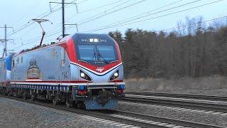 Amtrak & MARC Trains On The NEC Near Dorsey Road