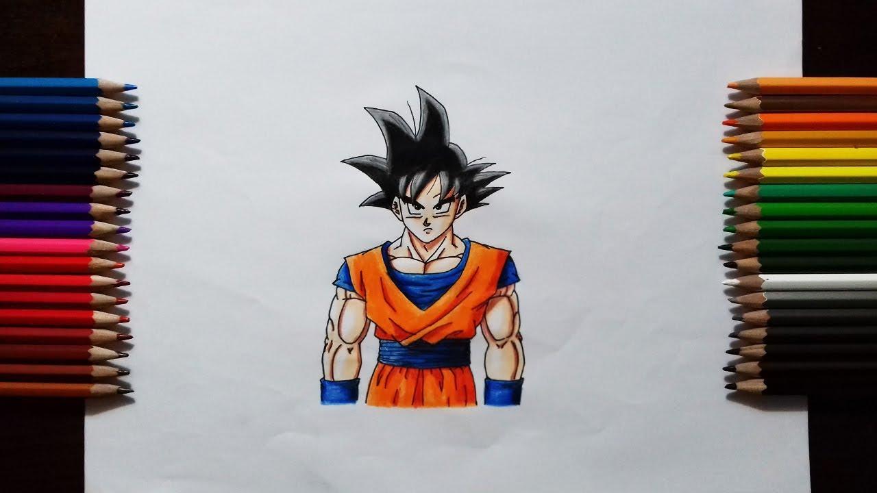 How To Draw Goku Base Form   Step By Step Tutorial - YouTube