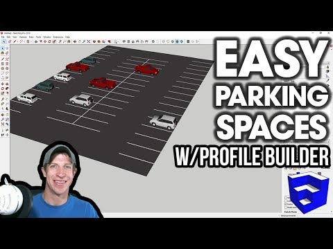 EASY PARKING SPACES with Profile Builder for SketchUp