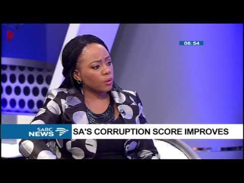 SA's corruption score improves