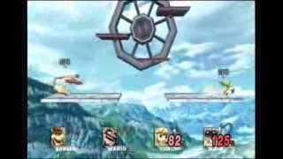 Super Smash Bros. Brawl Battle #82: Bowser vs  Wario vs  Toon Link vs  R.O.B.
