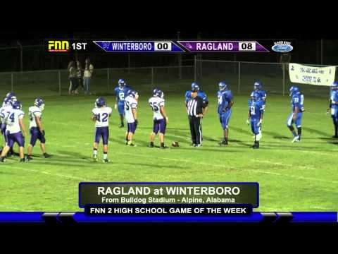 Ragland at Winterboro High School Football 2015