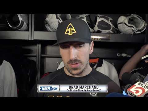 Brad Marchand looks ahead to Game 2 against Blue Jackets