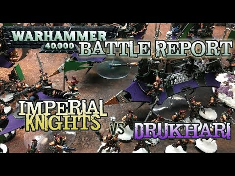 GMG 40k Battle Reports Ep 09 - Imperial Knights vs. Drukhari - 2k Matched Play