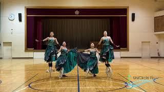 UniCircle Flow :  Wonderland  (Quartet) 一輪車演技 Unicycle Dance