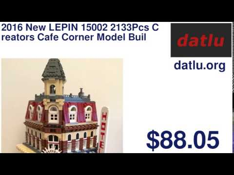 2016 New LEPIN 15002 2133Pcs Creators Cafe Corner Model Building Kit Minifigure Blocks Bricks Comp
