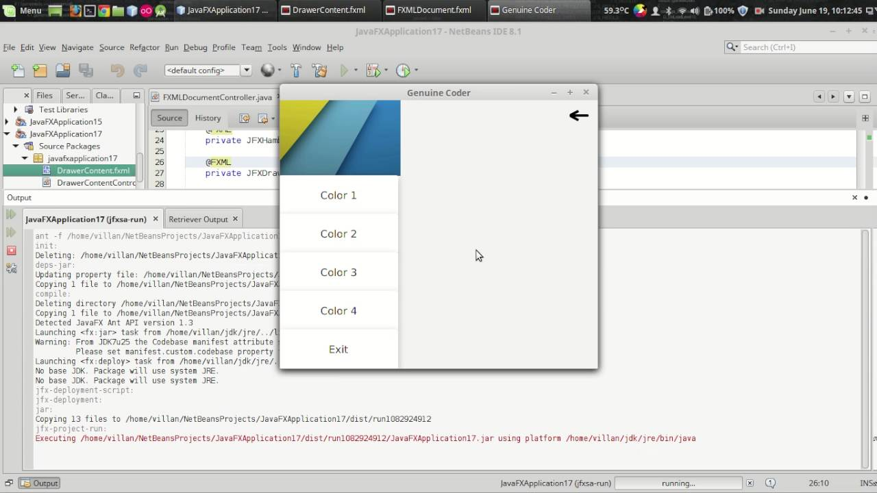 JavaFx JFoenix Tutorial #9 : Material Design Navigation Drawer