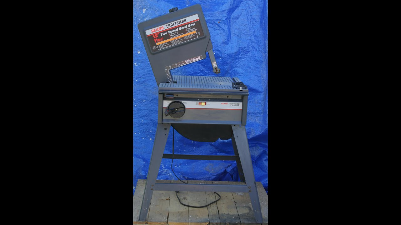 Craftsman 12 Inch Tilt Head 1 1 8 H P 2 Speed Bandsaw