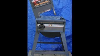 For Sale - Craftsman 12-inch Tilt Head 1-1/8 H.p. 2-speed Bandsaw - Demonstration Video