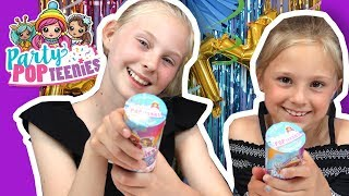 Party Popteenies Surprise Popper Unboxing and Double Surprise Popper - The Hoopsters