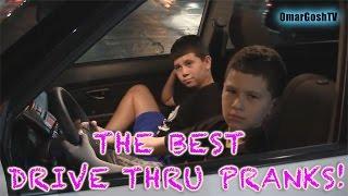 BEST DRIVE THRU PRANKS!!! - OmarGoshTV - Bromas