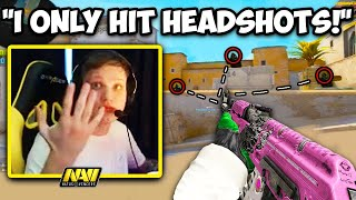 S1MPLE'S CLEAN AIM ONLY HITS HEADS! STEWIE2K HUGE BRAIN! CS:GO Twitch Clips