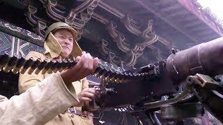 Chinese captain fires enemy with giant machine gun!Guerrilla soldier 15