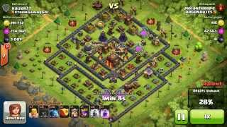 BM094 Balloons and Minions Strategy against champion level opponent Clash of Clans CoC