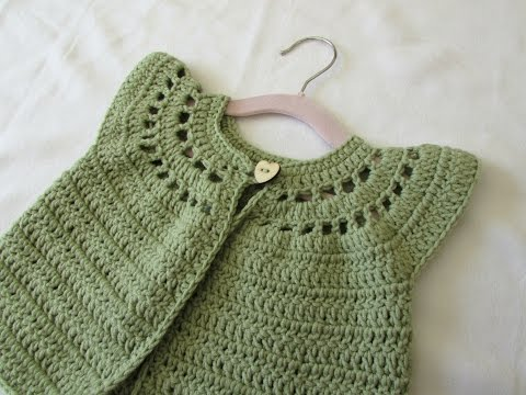 How to crochet a little girl's cute cardigan / sweater