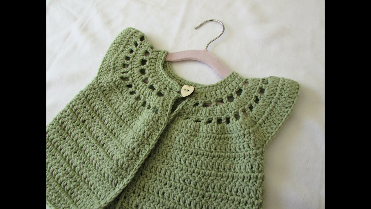How to crochet a little girls cute cardigan sweater youtube bankloansurffo Image collections