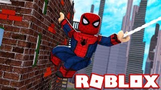 I AM SPIDERMAN in ROBLOX SUPERHERO TYCOON