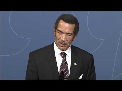 Statsminstern tar emot Botswanas president