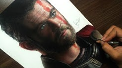 Desenhando o Thor Ragnarok (Chris Hemsworth)