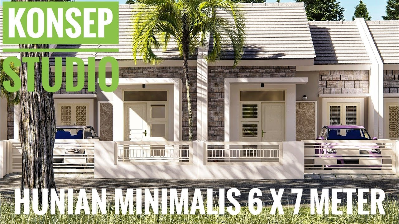 Hunian Minimalis 6 x 7 mtr dengan Konsep Studio