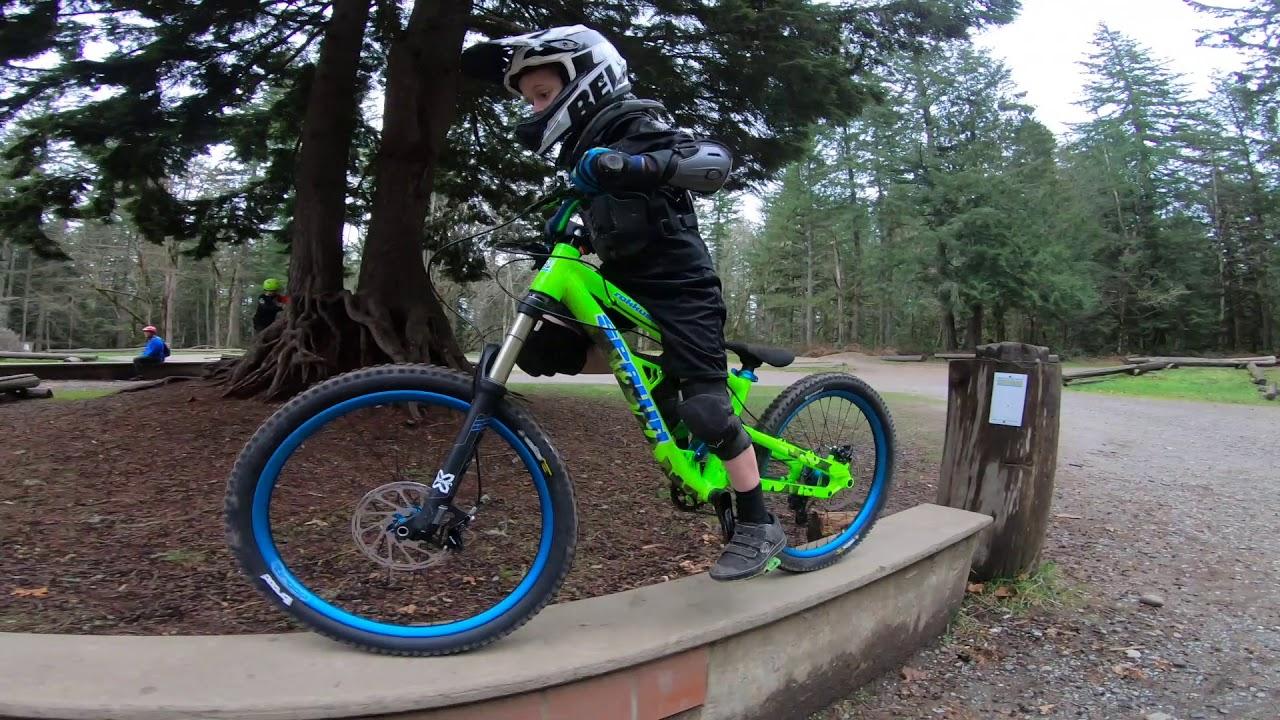 ff466b44c70 Jake (8 years old) sending it BIG on his Spawn Rokkusuta kids mountain bike