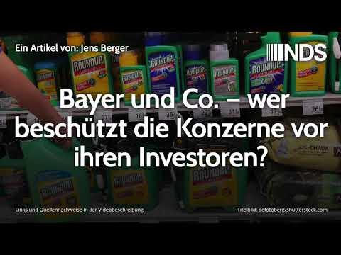 Bayer und Co. – wer beschützt die Konzerne vor ihren Investoren? | Jens Berger