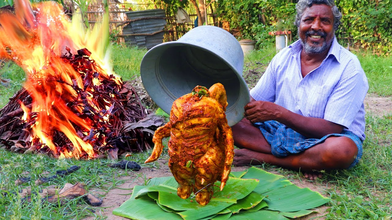 FULL CHICKEN TANDOORI | WHOLE CHICKEN TANDOORI | EPIC TANDOORI CHICKEN | FARMER COOKING