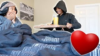 SURPRISING HER IN BED WITH...