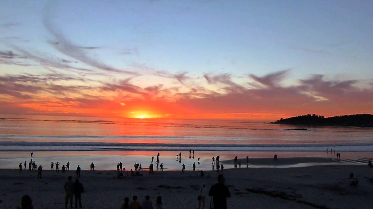 CARMEL-BY-THE-SEA (California) - Sunset in Carmel beach HD - YouTube
