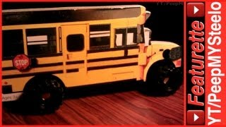 Yellow Toy School Bus Childrens Board Book For Kids W/ Wheels That Roll & Realistic Details