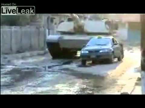 m1 abrams tank vs terrorist car youtube. Black Bedroom Furniture Sets. Home Design Ideas